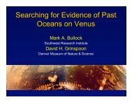 Searching for Evidence of Past Oceans on Venus - Lunar and ...