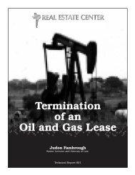 Termination of an Oil - Real Estate Center - Texas A&M University