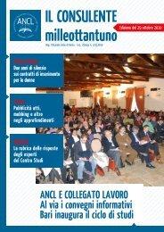 ANCL E COLLEGATO LAVORO Al via i convegni informativi Bari ...