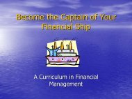 Be the Captain of Your Financial Ship - University of Florida Family ...