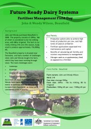 John and Wendy Wilson - Future Ready Dairy Systems