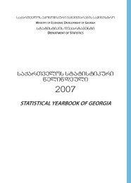 STATISTICAL YEARBOOK OF GEORGIA - GeoStat.Ge