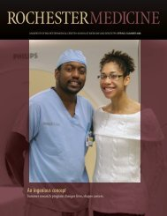 Spring/Summer 2008 - University of Rochester Medical Center