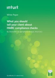 What you should tell your client about HMRC compliance ... - Intuit