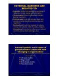 the barriers related to the process of establishing and development ... - Page 4
