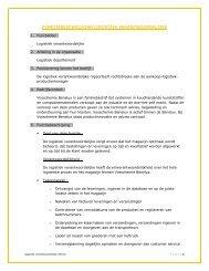 functiebeschrijving logistiek verantwoordelijke - Vosschemie