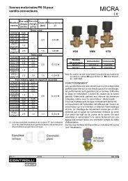 Vannes motorisées PN 16 pour ventilo-convecteurs - Xref