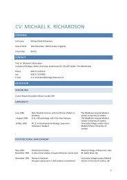 CV: MICHAEL K. RICHARDSON