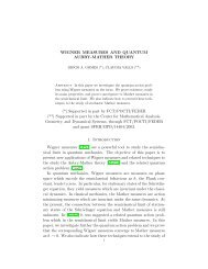 WIGNER MEASURES AND QUANTUM AUBRY-MATHER THEORY ...