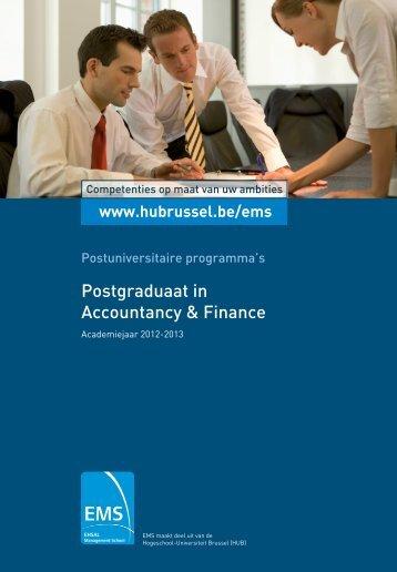Postgraduaat in Accountancy & Finance - HUBRUSSEL.net