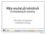 Mäta resultat på individnivå – En förutsättning för utveckling