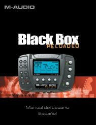 Black Box Reloaded • Manual del usuario - M-Audio