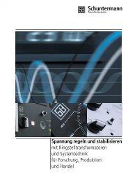 Imagebrochure - Automatic Voltage Stabilizer Schuntermann