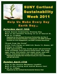 Earth Day programming - SUNY Cortland