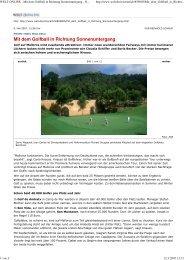 Mit dem Golfball in Richtung Sonnenuntergang - Golf de Andratx