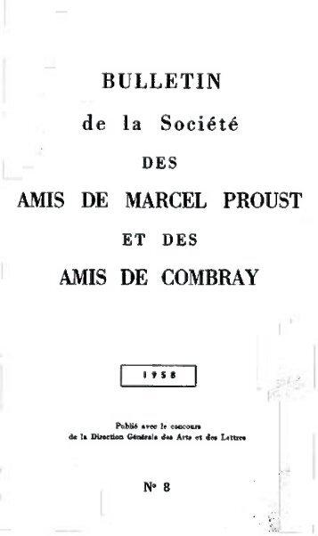 Bulletin n° 8 (1958) - Société des Amis de Marcel Proust