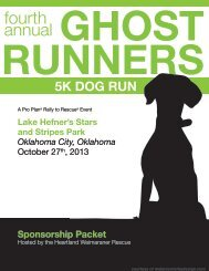 Sponsorship Packet - Ghost Runners 5k Dog Run