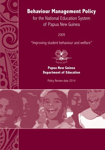 Behaviour Management Policy - Department of Education