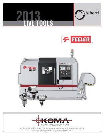 Live Tools for Feeler - Koma Precision, Inc.