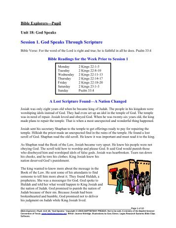 Student Guide - BaptistWay Press
