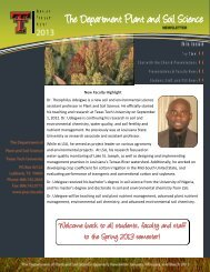January/February/March - Department of Plant & Soil Science