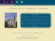 Christian Service - Trinity Episcopal Church