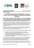 Dossier de presse RTRA Agronomie et développement ... - Agropolis - Page 3