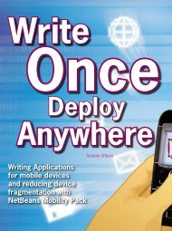 Writing Applications for mobile devices and reducing ... - NetBeans
