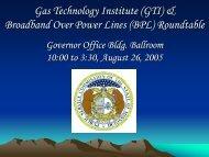 GTI BPL Roundtable Compendium - Missouri Public Service ...