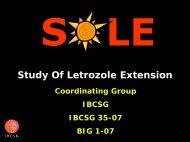 SOLE - IBCSG