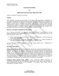 draft procedural handbook - NOAA