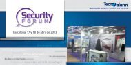 barcellona - security forum 17-18 aprile 2013 - Tecnoalarm