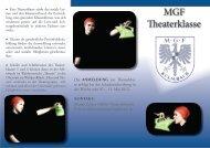 MGF Theaterklasse - Theater am Gymnasium in Bayern