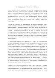 Els vincles entre canvi climàtic i els drets humans El canvi climàtic ...