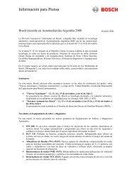 Información para Prensa - Bosch Argentina