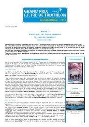 RAPPEL ! Grand Prix F.F.TRI. 2013 de Dunkerque Le retour des ...