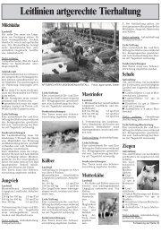 Leitlinien artgerechte Tierhaltung