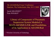 Library of Components of Pneumatic Suspension ... - MSC Software