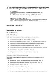 10. Internationales Symposium für Neuroorthopädie ... - Motio