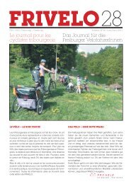 Le journal pour les Das Journal für die cyclistes fribourgeois ...