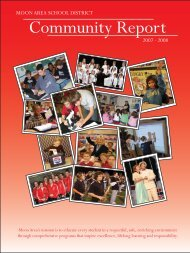 2008 Annual Report.indd - Moon Area School District