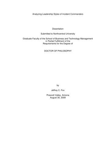 dissertation papers on leadership