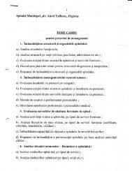 Teme cadru pentru proiectul de management - Spitalul Municipal ...