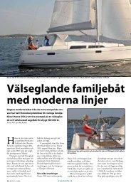 Välseglande familjebåt med moderna linjer - Hanse segelbåtar