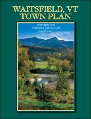 Waitsfield, Vt toWn Plan - Town of Waitsfield, Vermont