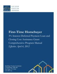 First-Time Homebuyer - San Diego Housing Commission