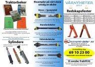 Redskapsfester Traktorbøker Vårnyheter Sylindere - Økonomi-deler