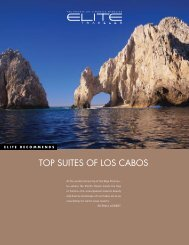 Top suiTes of Los CABos - Elite Traveler