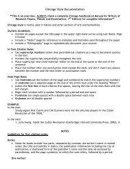 Chicago Style Documentation (pdf) - Bethel University