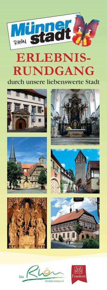 ERLEBNIS- RUNDGANG - Münnerstadt